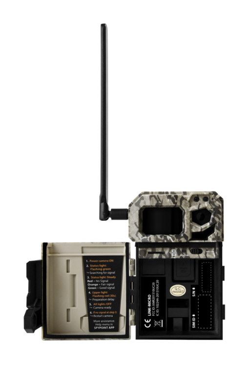 Spypoint Link Micro V (Verizon) Cellular Trail Camera|Spypoint Link Micro V (verizon) Rear Camera View|Spypoint Link Micro V (verizon) Internal View|Spypoint Link Micro V Right Side View|Spypoint Link Micro V Left Hand Camera View