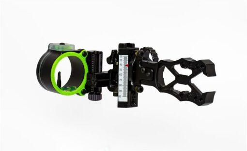 Black Gold Sights - Ascent Pro 1 Pin Sight|Black Gold Sights - Ascent Pro 1 Pin Sight Side View|Black Gold Sights - Ascent Pro 1 Pin Sight Back View|Black Gold Sights - Ascent Pro 1 Pin Sight Pro Pin|Black Gold Sights - Ascent Pro 1 Pin Sight X-Frame