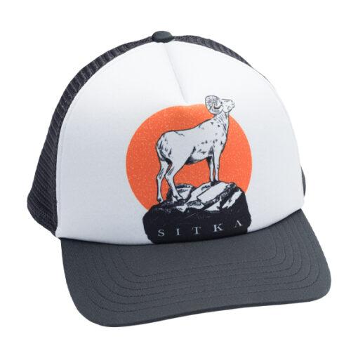Sitka Gear Closeout - Lyle Hebel Standing Ram Foam Trucker Hat Black