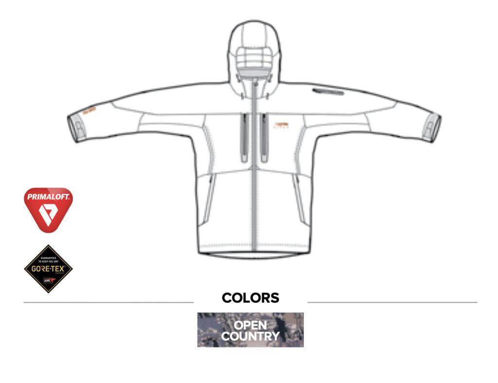 Sitka Gear - Blizzard Aerolite Parka Jacket Open Country New (30079)