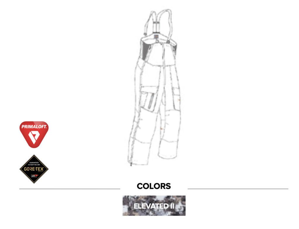 Sitka Gear - Incinerator Aerolite Bib Pant Elevated II New (30082-EV)